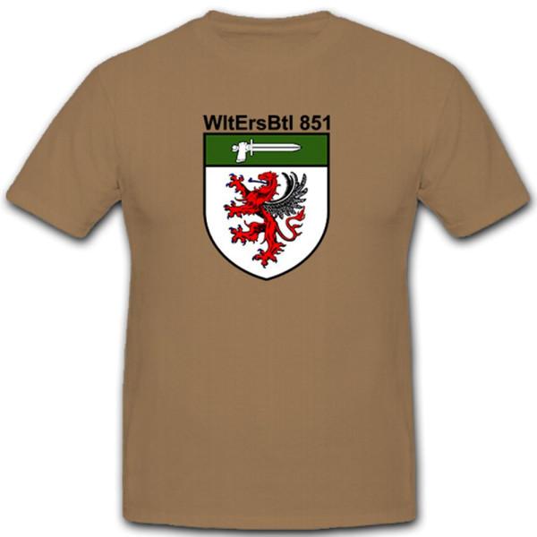 WLErsBtl 851 Wehrleit Ersatzbataillon Wehrleiter Bundeswehr BW - T Shirt # 10531