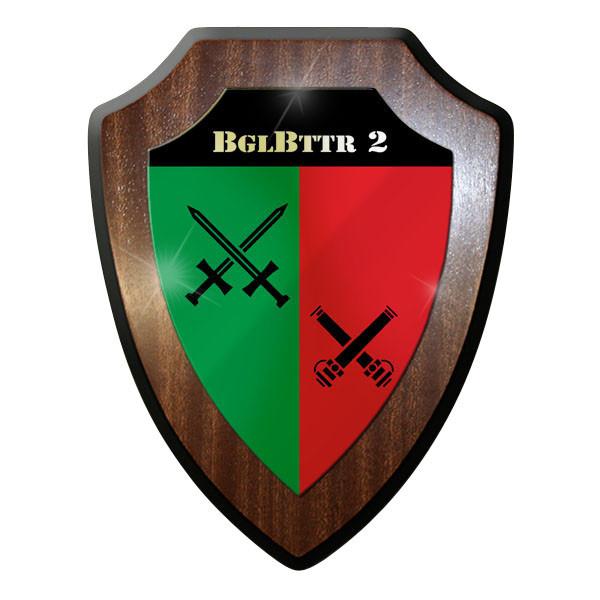 Wappenschild - BglBttr 2 Begleit Batterie 2 Bundeswehr Bund Bw Soldaten - #11718