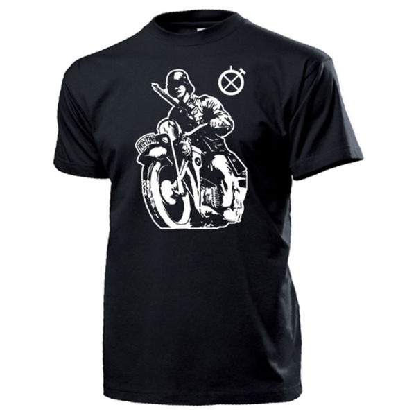 Kradmelder Wh Soldat Motorrad R75 Ks750 Wk Zeichen Maschine - T Shirt #13116