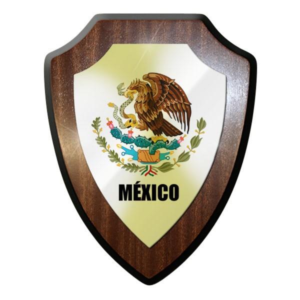 Wappenschild / Wandschild / Wappen - México Flagge Mexico Süd Amerika #11929