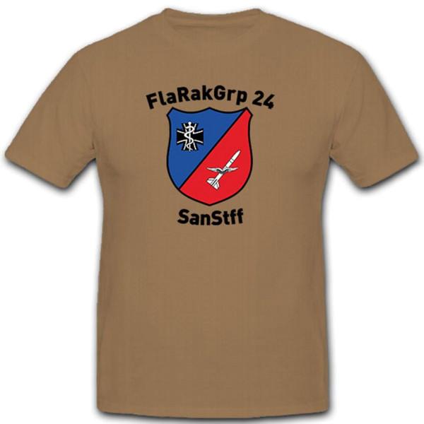 SanStff FlaRakGrp 24 Bundeswehr Luftwaffe Crest Unit Emblem - T Shirt # 10444