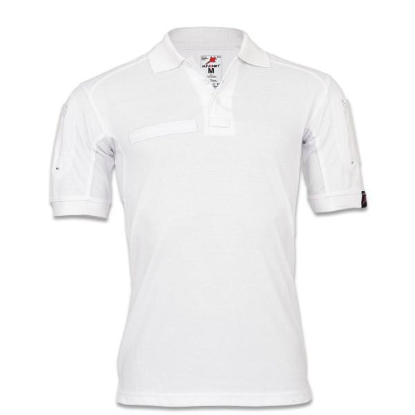 Tactical Poloshirt ALFA weiß Medizin Ambulanz Pflege Berufsbekleidung #22402