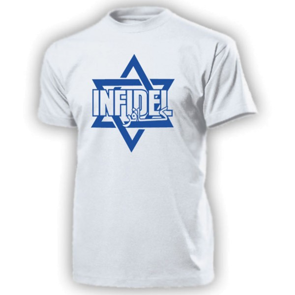 Infidel Davidstern Arabisch Ungläubiger Israel Heiligesland T Shirt #20255