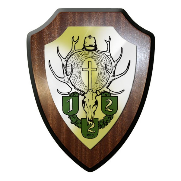 Wappenschild / Wandschild / Wappen - Königlich Bayerisches Jäger Regiment #9234
