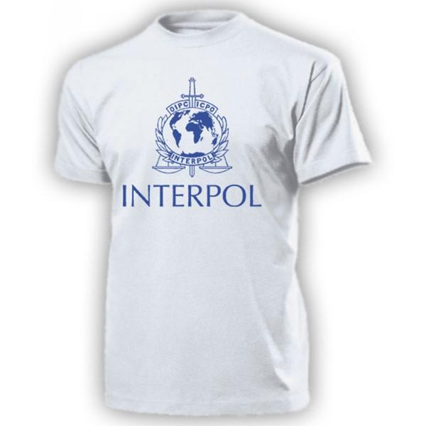 Interpol Polizei Internationale kriminalpolizeiliche Organisation T Shirt #14209