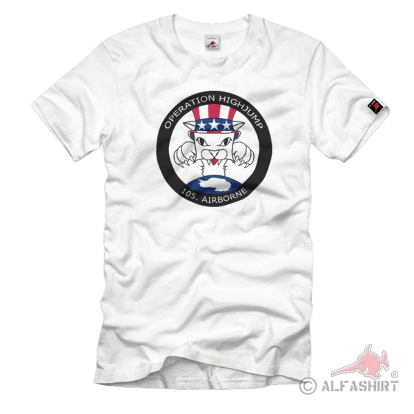 Operation Highjump 105. Airborne US Marine Army Navy Antarktis - T Shirt #1045