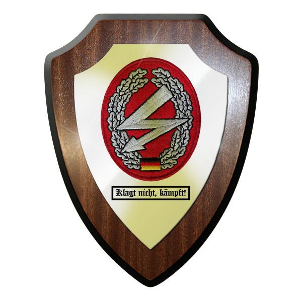 Wappenschild - Barettabzeichen Fernmelder Fernmelde Truppe , kämpft! #11678