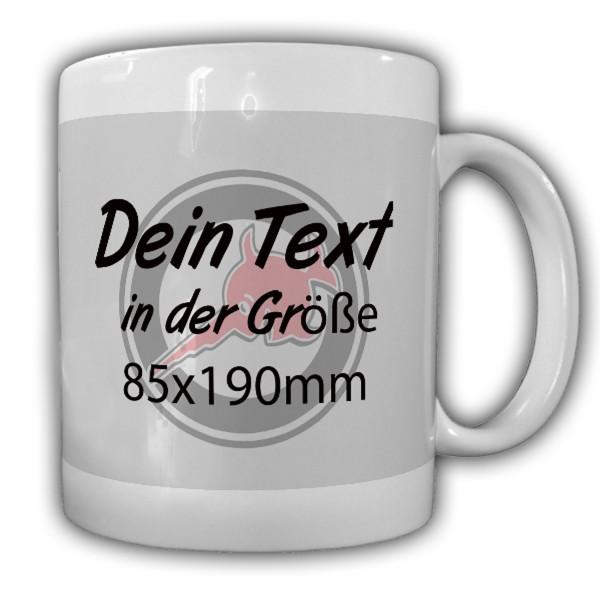 Tasse Personalisiert Dein Text 85x190mm Individuell Personalisierbar Büro Firma Wunschtext #26036