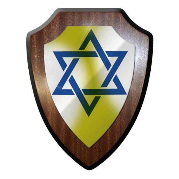 Wappenschild David Stern Israel Judentum Rabbi Religion Abzeichen #9262