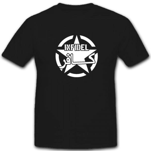 Infidel Ungläubig Islam Kreuzritter Ungläubiger- T Shirt #4003