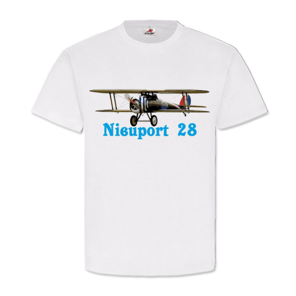 Nieuport 28-Plane French Biplane Fighter - T Shirt # 11512