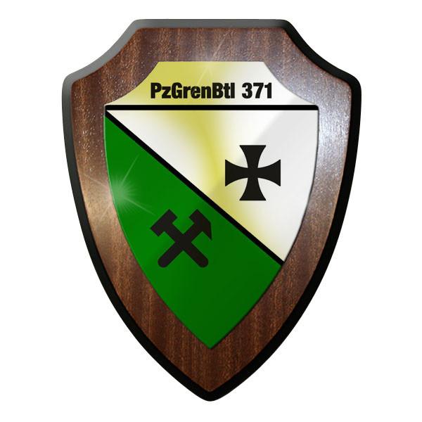 Wappenschild / Wandschild / Wappen Panzergrenadier Bataillon 371 PzGrenBtl #8990