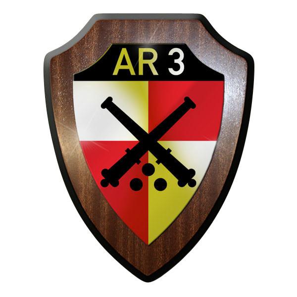 Wappenschild- Artillerieregiment 3 Artillerie Panzer Haubitze Kanone #10094