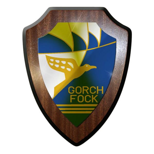 Wappenschild / Wandschild / Wappen - Gorch Fock Segelschulschiff Bw #7076