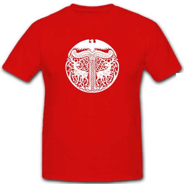 Irminsul Tree of Life Sanctuary of the Saxons Germanic Vikings - T Shirt # 126