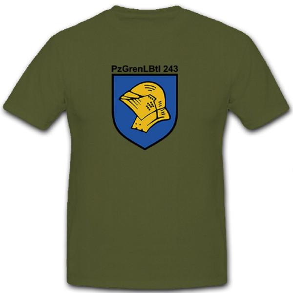 PzGrenLBtl 243 Panzer Grenadier Lehr Bataillon Bundeswehr Bund - T Shirt #10108