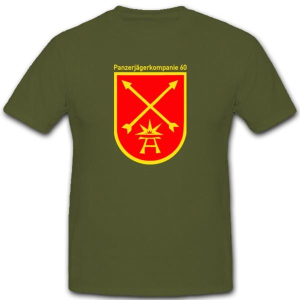 Panzerjägerkompanie 60 PzJgKp Panzer Kompanie Bundeswehr Bw - T Shirt #1294