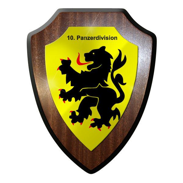 Wappenschild - 10 Panzerdivision PzDiv Panzer Wappen Emblem Abzeichen #9051