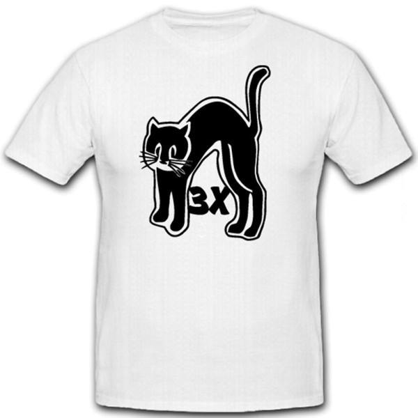 3x Schwarzer Kater Katze Turmwappen U-Boot U48 U564 - T Shirt #12559
