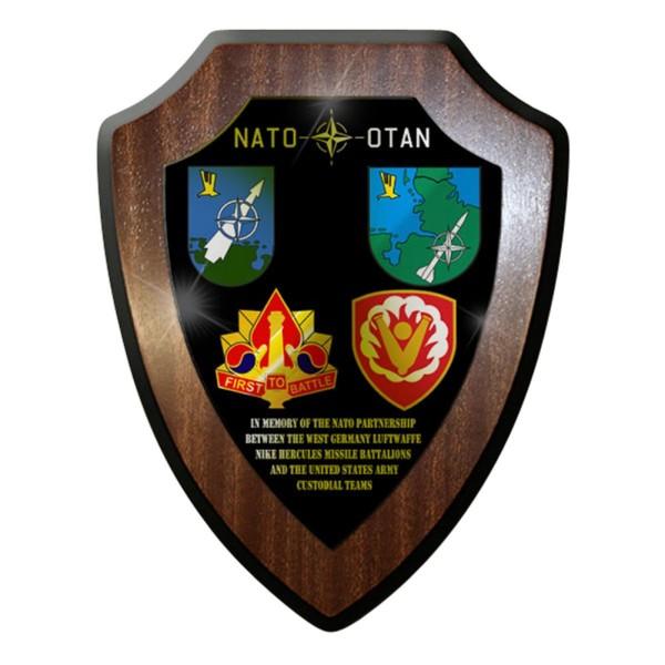 Wappenschild / Wandschild - Nato Partnership Missile Battalions Flarak Nato#7648