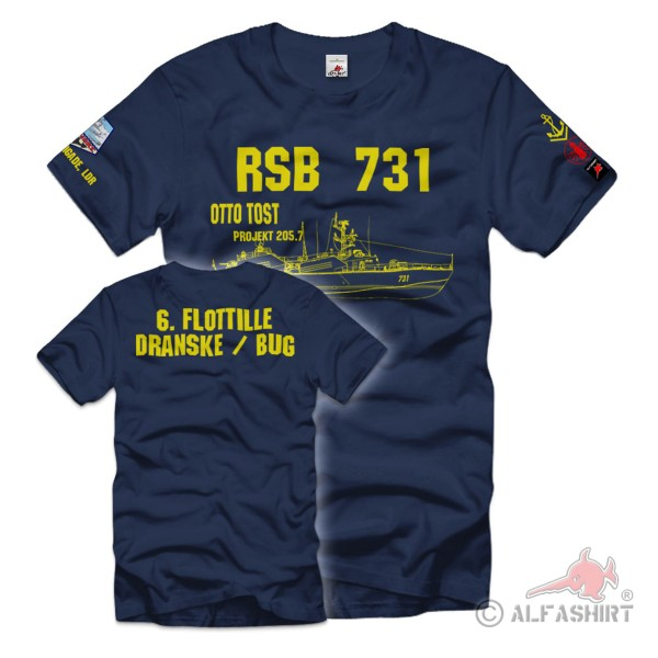 RSB 731 Otto Tost Project 205 7 Crew Dranske Obermaat T-Shirt # 36409