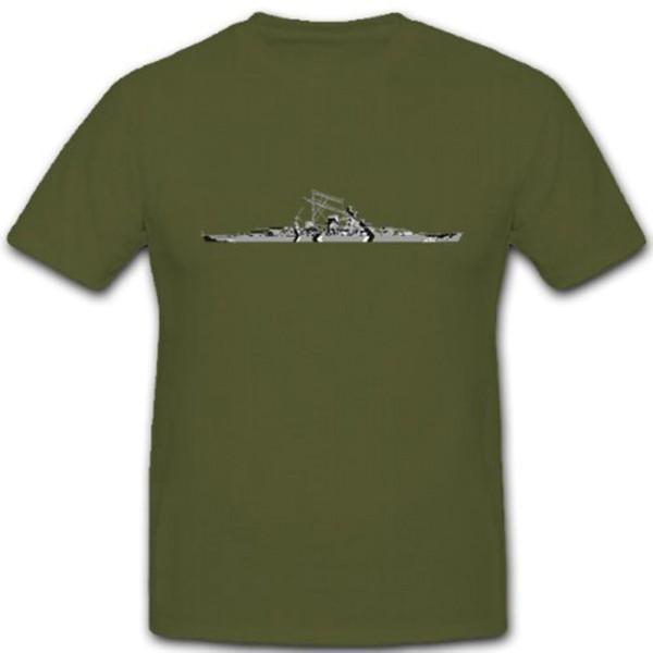 Schlachtschiff Bismarck Marine Schiff Boot - T Shirt #10435