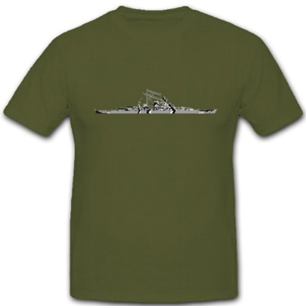 Battleship Bismarck Navy Ship Boat - T Shirt # 10435