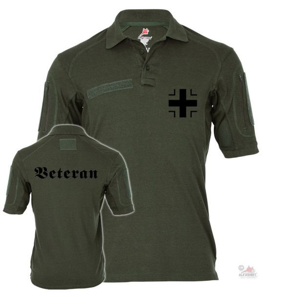 Tactical polo shirt Alfa veteran beams cross German soldier KSK military #19432
