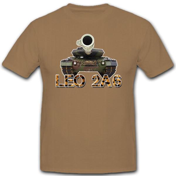 Leopard 2A6 Leo Panzer deutscher Kampfpanzer Militär Bundeswehr - T Shirt #10248