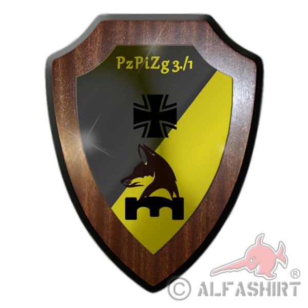 Heraldic shield PzPiZg 3 company PzPiBtl 1 tank pioneer platoon battalion # 36146