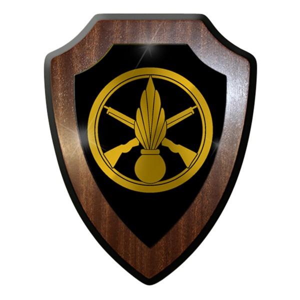 Wappenschild / Wandschild -Französische Armee Infanterie Abzeichen Einheit#7441