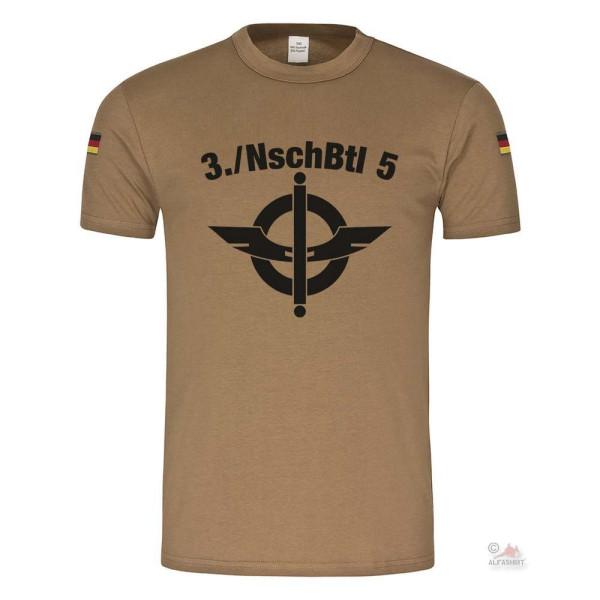 3 NaschubBtl 5 Nachschub NschBtl Bundeswehr BW Soldaten Militär T-Shirt BW#22949
