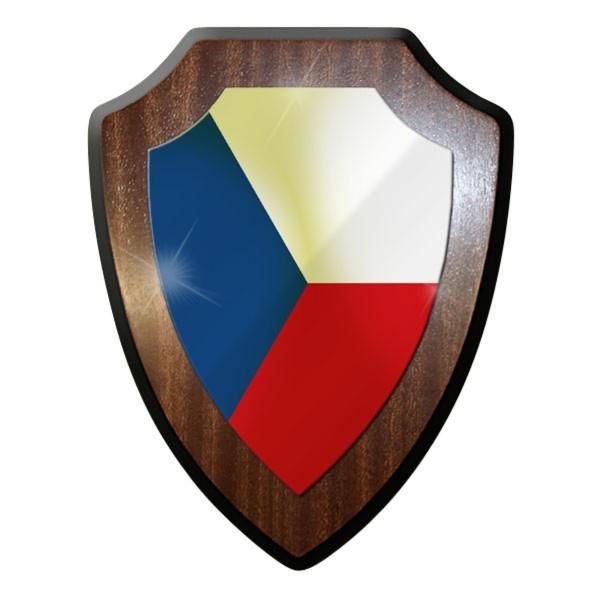 Wappenschild - Tschechische Kokarde Roundel Flagge Republik Land - #11768