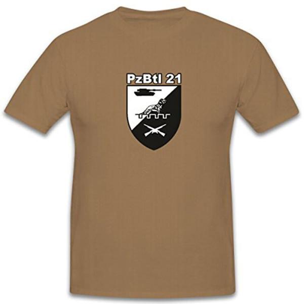 PzBtl 21 TYP2 Tank Battalion Bundeswehr Crest Badge Emblem T Shirt # 12211