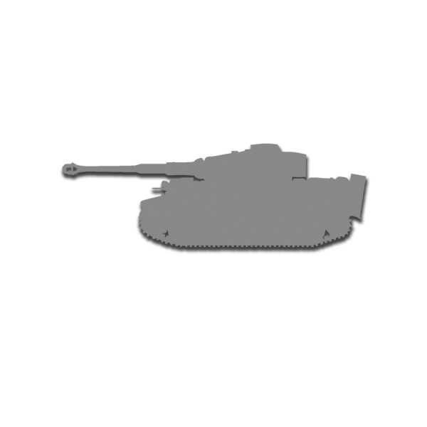 Tiger Panzer Aufkleber Wk2 Tiger Panzer Umriss Deutschland 15x5cm #A5553