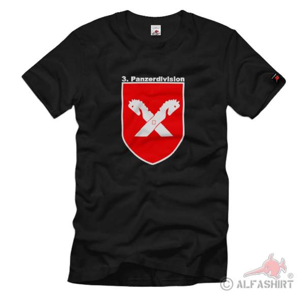 3te Panzer Division schwarz Grenadier Bataillon Brigarde Heer - T Shirt #1428