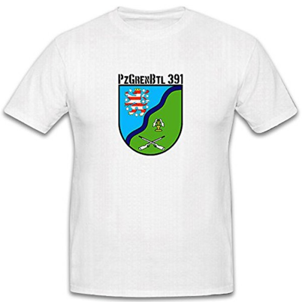 PzGrenBtl 391 Bundeswehr Wappen Werratal Kaserne - T Shirt #6960