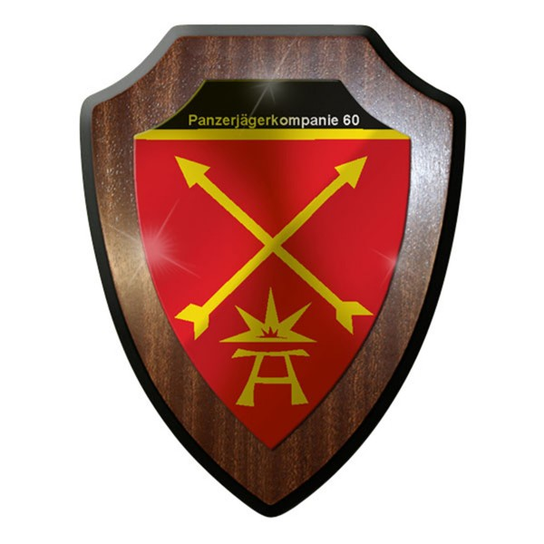 Wappenschild / Wandschild / Wappen - Panzerjägerkompanie 60 PzJgKp Bw Heer #8349