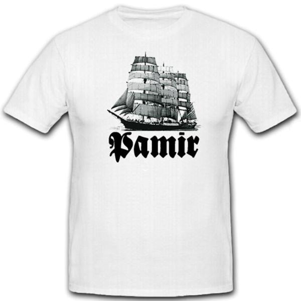 Pamir Sailing Ship Four-masted Barque Ship Windjammer Tall Ship - T Shirt # 12359