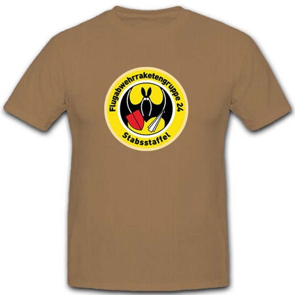 StabStaff-FlaRakGrp Anti-aircraft Missile Group 24 Bar Staff - T Shirt # 10442