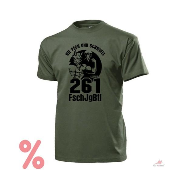 SALE Shirt FschJgBtl 261 Lebach Fallschirmjägerbataillon T-Shirt #R452