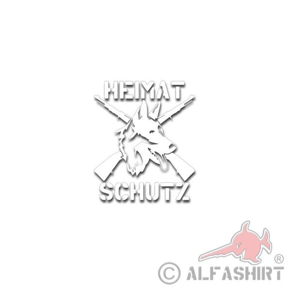 Aufkleber Heimatschutz Diensthundeführer K9 Hundestaffel 20x12cm #A4785
