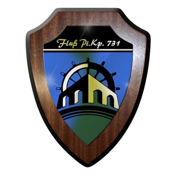 Wappenschild Flusspionierkompanie Fluss PiKp 731 Brücke #8367