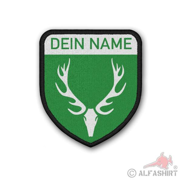 Patch Jagd Personalisiert Dein Name Jäger Gebiet Hochsitz Aufnäher Klett #36915