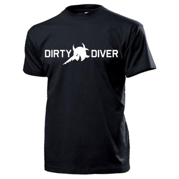 Dirty Diver Bodenfund Taucher Sägefisch Schwertfisch Sondler - T Shirt #13210