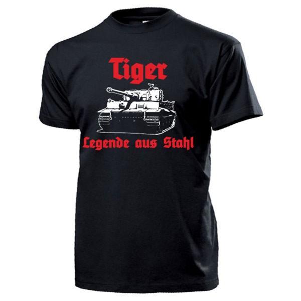 Tiger Legende aus Stahl Panzer Panzerkampfwagen VI Deutschland - T Shirt #13249