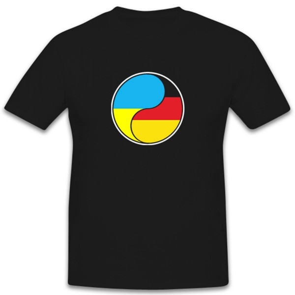German Ukrainian Ying and Yang war conflict with Russia - T-shirt # 12464