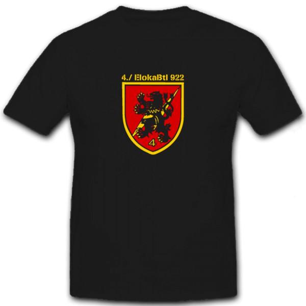 4 EloKaBtl 922 Bundeswehr Fernmeldetruppe elektronische - T Shirt #6516