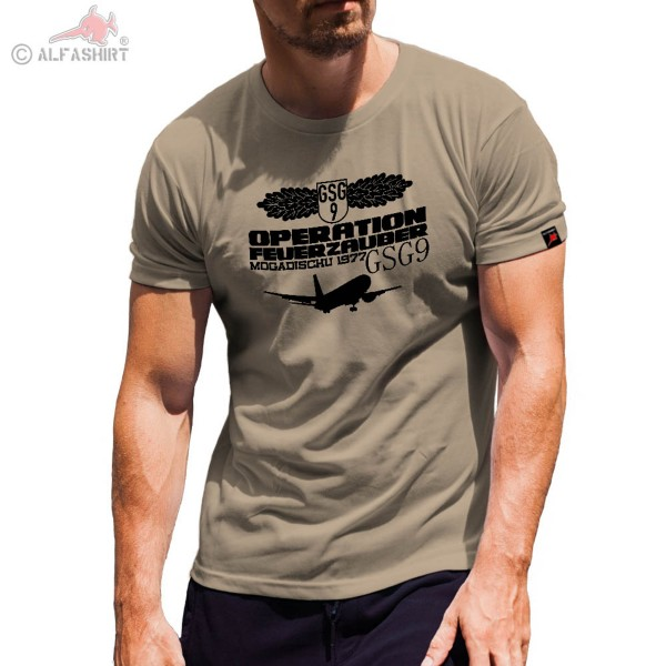 GSG9 Mogadischu Operation Zauberfeuer Flugzeugentführung Landshut T Shirt #4726