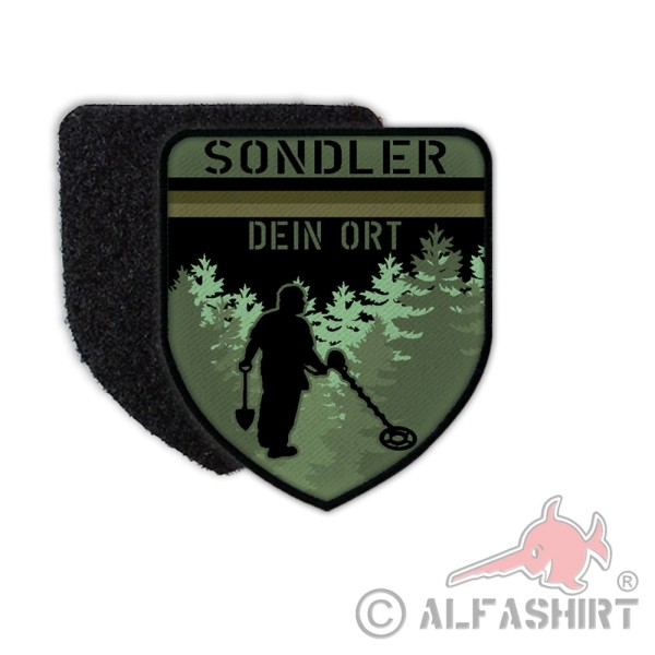 Patch Sondler Dein Ort Personalized Metal Detector Patch Metal # 36174